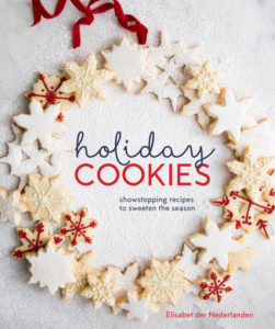 The cover of der Nederlanden's book, Holiday Cookies: Showstopping Recipes to Sweeten the Season. Includes her grandmother's recipe for Pepparkakor cookies.
