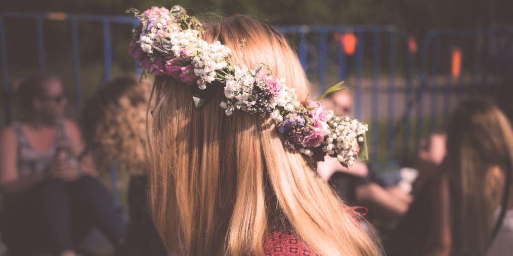 Flower crowns are an essential part of a perfect Midsummer outfit.