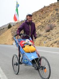 Swede Kristina Paltén Runs Across Iran