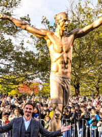 Zlatan's Career Immortalized With Statue