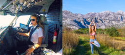 Swedish Pilot, Instagram Star Strikes a (Yoga) Pose