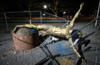 Zlatan's Statue Is Toppled In Malmö